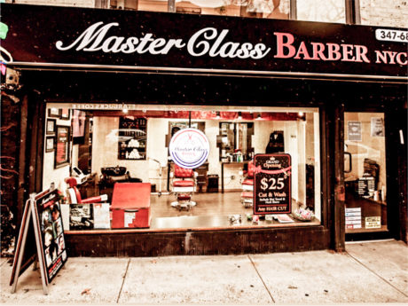 Master Class Barber NYC store front